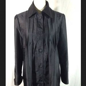 Grace Chuang black silk button tunic jacket
